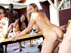 AlleyWay Dumpster Diving w/Lyla Storm, Britney Stevens & Lizzy London